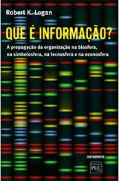 """Capa do livro """"Que é informação?"""""""