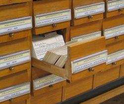 Catálogo por assunto na biblioteca da Universidade de Graz. Foto: Dr. Marcus Gossler