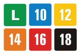 Gradações da Classificação Indicativa brasileira. Fonte: Wikimedia